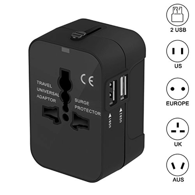 Portable UK US AU to EU European Power Socket Plug Adapter Travel Converter VQ