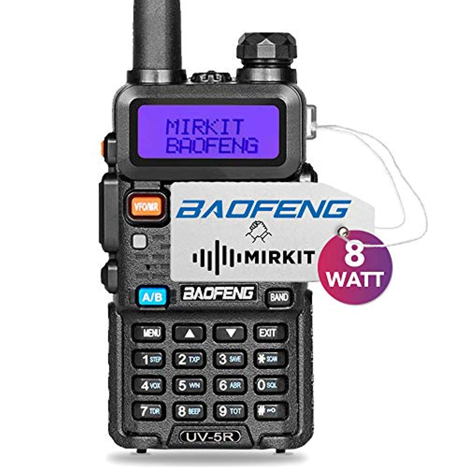 Mirkit Radio UV-5R MK4 8W MP Max Power 2019 1800 mAh Li-Ion Battery Pack,