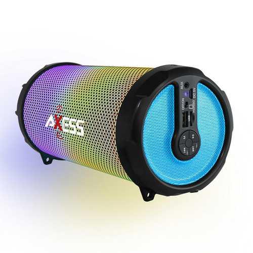 AXESS SPBT1031YL Axess Portable Bluetooth IndoorOutdoor Yellow with BuiltIn 3...